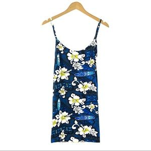 Tiki Palm Dresses - TIKI PALM | Blue Floral Hawaiian Sun Dress